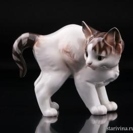 Котенок с выгнутой спинкой, Rosenthal, Германия, 1920 гг