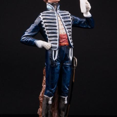 Фарфоровая статуэтка солдата Английский драгун, Capodimonte, Италия, 1950-70 гг.