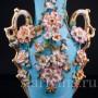 Фарфоровая Голубая ваза с цветами, Франция, кон. 19 в.