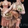 Старинная статуэтка из фарфора С рынка, пара, Royal Dux, Чехия, нач. 20 в.