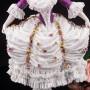 Фарфоровая статуэтка Дама с султаном из перьев, кружевная, Volkstedt, Германия, кон. 19, нач. 20 в.