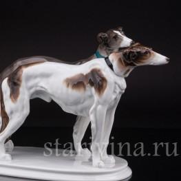 Фарфоровая статуэтка собак Две борзые, Karl Ens, Германия, 1920-30 гг.