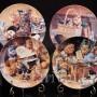 Декоративная тарелка из фарфора Шум на обувной полке, Швеция, 1992 г.